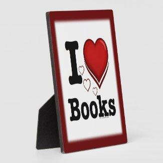 I Heart Books! I Love Books! (Shadowed Heart) Display Plaques
