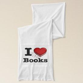I Heart Books! I Love Books! (Shadowed Heart) Scarf