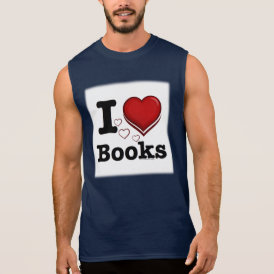 I Heart Books! I Love Books! (Shadowed Heart) Sleeveless Shirt
