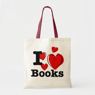 I Heart Books! I Love Books! (Sketchy Heart) Bags