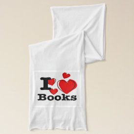 I Heart Books! I Love Books! (Sketchy Heart) Scarf