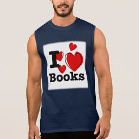 I Heart Books! I Love Books! (Sketchy Heart) Sleeveless Shirt