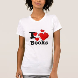 I Heart Books! I Love Books! (Sketchy Heart) T-Shirt