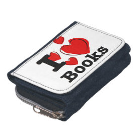 I Heart Books! I Love Books! (Sketchy Heart) Wallet
