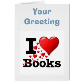 I Heart Books! I Love Books! (Trail of Hearts) Card