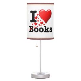 I Heart Books! I Love Books! (Trail of Hearts) Desk Lamp