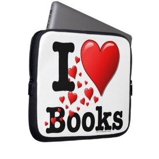 I Heart Books! I Love Books! (Trail of Hearts) Computer Sleeve