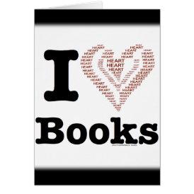 I Heart Books - I Love Books! (Word Heart) Card