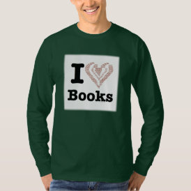 I Heart Books - I Love Books! (Word Heart) T-Shirt