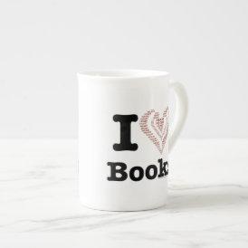 I Heart Books - I Love Books! (Word Heart) Tea Cup