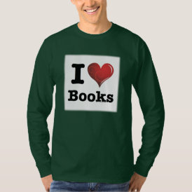 I heart books Swirly Curlique Heart 02 FADE 4000x4 T-Shirt