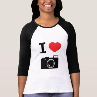 I HEART PHOTOGRAPHY TEE SHIRTS