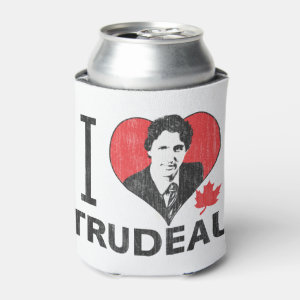 I Heart Trudeau Can Cooler