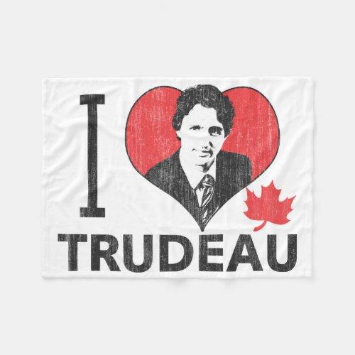 I Heart Trudeau Fleece Blanket