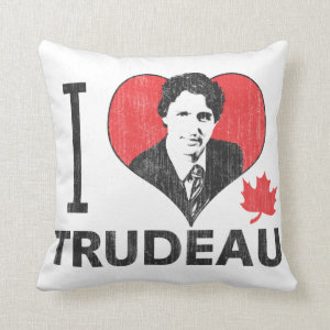 I Heart Trudeau Throw Pillows
