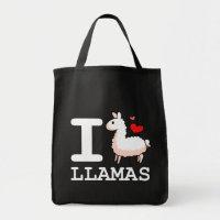 I Llama Llamas Tote Bag