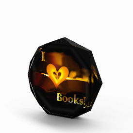 I Love Books - I 'Heart' Books (Candlelight) Acrylic Award