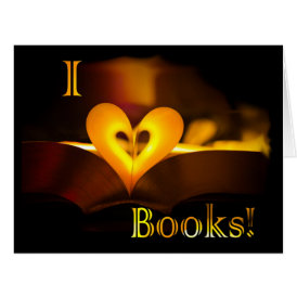I Love Books - I 'Heart' Books (Candlelight) Card
