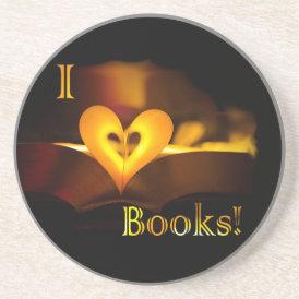 I Love Books - I 'Heart' Books (Candlelight) Coaster