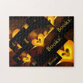 I Love Books - I 'Heart' Books (Candlelight) Jigsaw Puzzle