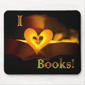 I Love Books - I 'Heart' Books (Candlelight) Mouse Pad