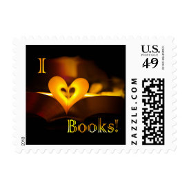I Love Books - I 'Heart' Books (Candlelight) Postage