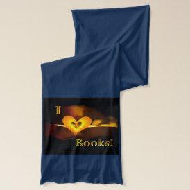 I Love Books - I 'Heart' Books (Candlelight) Scarf
