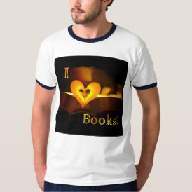 I Love Books - I 'Heart' Books (Candlelight) T-Shirt