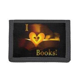 I Love Books - I 'Heart' Books (Candlelight) Tri-fold Wallet