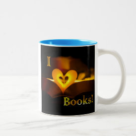I Love Books - I 'Heart' Books (Candlelight) Two-Tone Coffee Mug