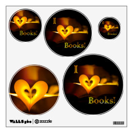 I Love Books - I 'Heart' Books (Candlelight) Wall Decal