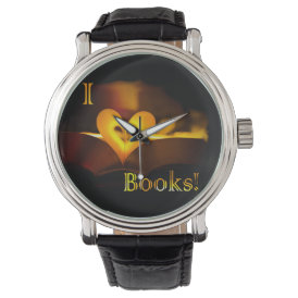 I Love Books - I 'Heart' Books (Candlelight) Wristwatches