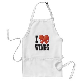 I Love Chicken Wings Aprons