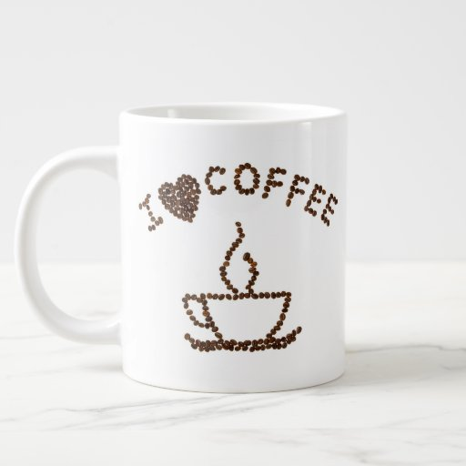 I Love Coffee Jumbo Mug
