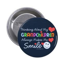 I Love My Grandchildren Button