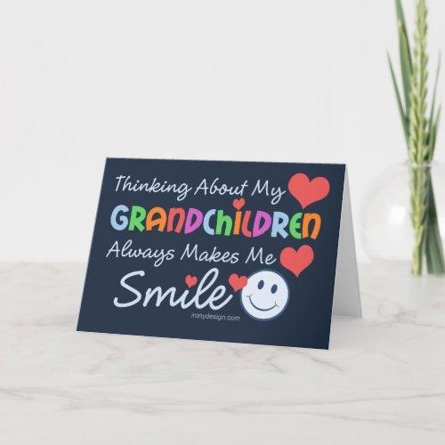 I Love My Grandchildren Cute Card