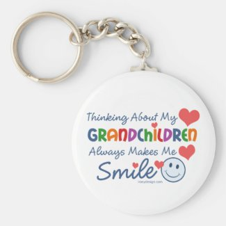 I Love My Grandchildren Key Chain