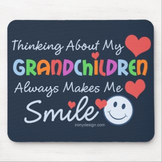 I Love My Grandchildren Mouse Pad