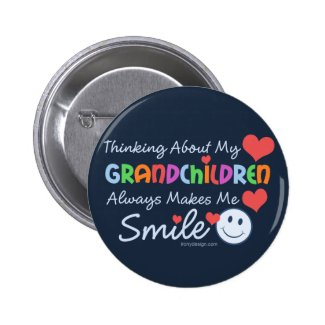 I Love My Grandchildren Pinback Buttons
