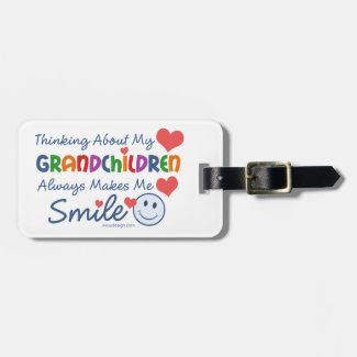 I Love My Grandchildren Tags For Luggage