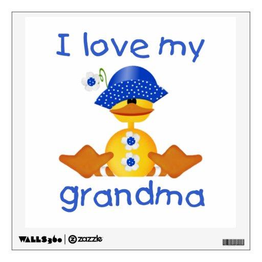 Download I love my grandma (girl ducky) room graphics | Zazzle