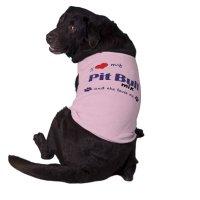 I Love My Pit Bull Mix (Female Dog) Shirt | Zazzle