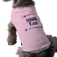 I Love My Shih Tzu (Female Dog) Doggie Tee