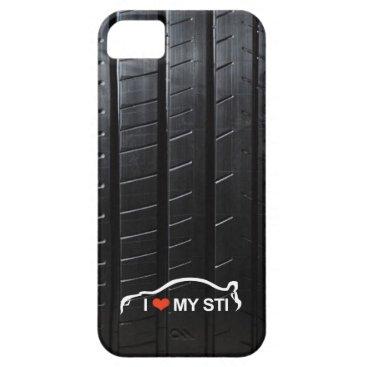 I Love MY STI on tire tread iPhone SE/5/5s Case