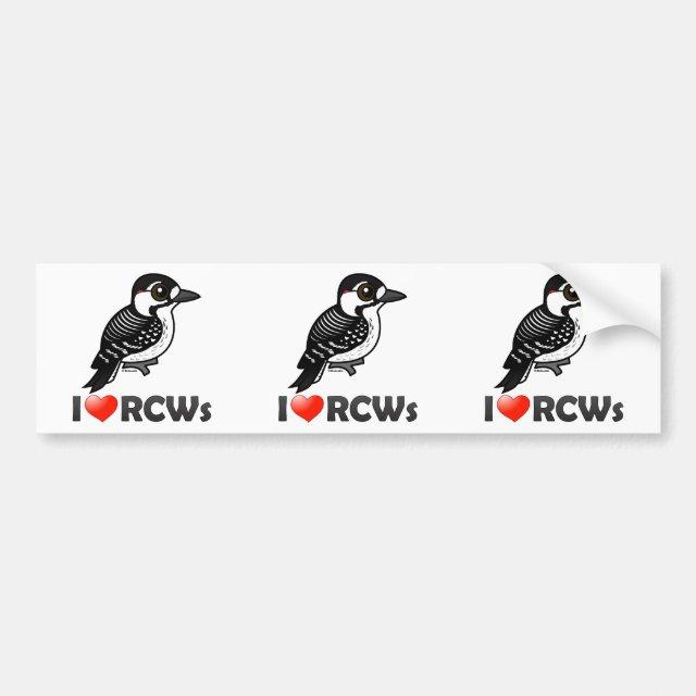 Cute I Love Red-cockaded Woodpeckers Bumper Sticker