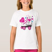 I Love Roller Skating T-Shirt | Zazzle.com