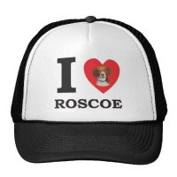 I Love Roscoe the Bed Bug Dog Trucker Hat   Zazzle
