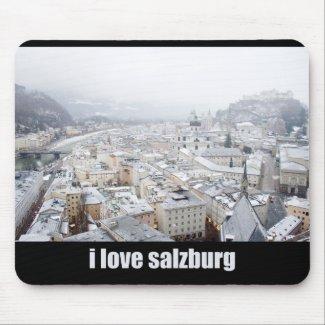 I Love Salzburg (Austria) Mousepad