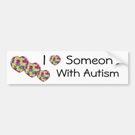 Download I Love Someone With Autism Bumpersticker Bumper Sticker ...