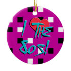 I Love The 80s! ornament